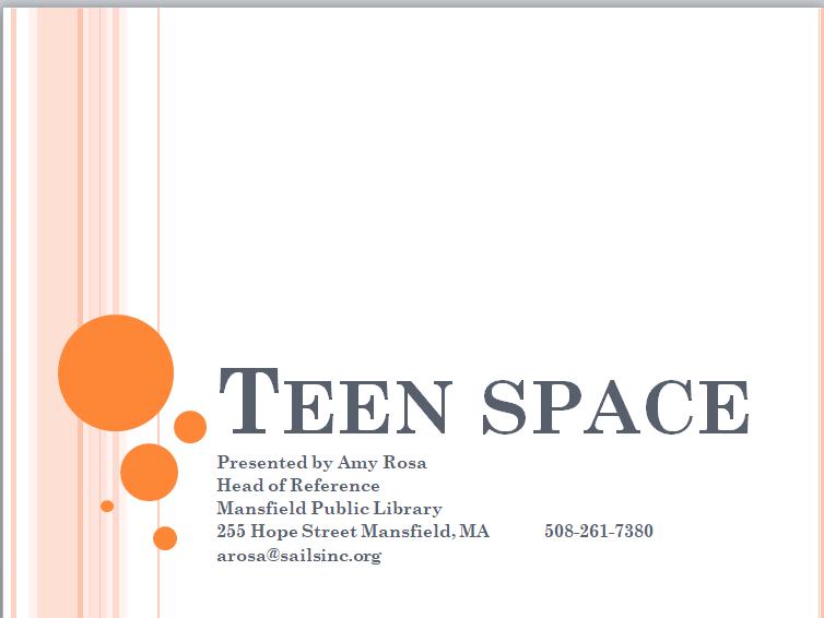 Mansfield - Teen Spaces